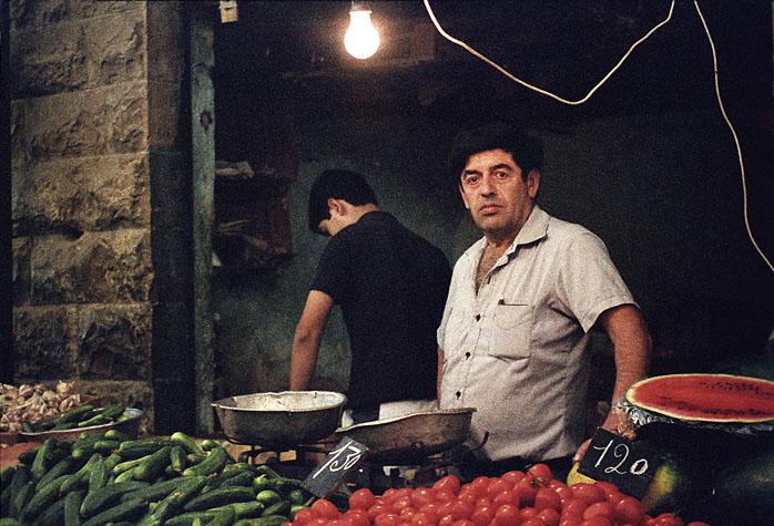 fruit vendor jerusalem market photo