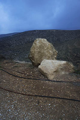 rocks and road on the yishuv photo
